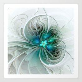 Abstract With Blue, Fractal Art Kunstdrucke