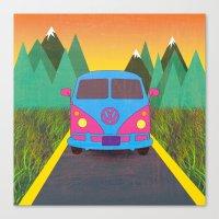 volkswagon Canvas Prints featuring Das Auto by Daizy Jain