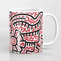 keith haring Mugs featuring Keith Haring by cvrcak