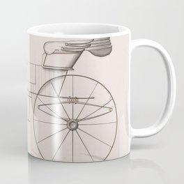 Design for 2 seat Phaeton no.3035a 1874 Brewster Co // Retro Drawing Vehicle Transportation Coffee Mug