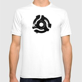 Pop-art 45 record spacer graphic illustration T-shirt