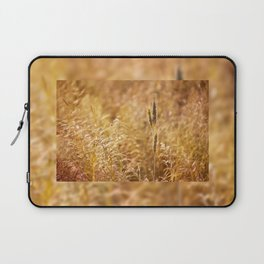 Golden cereal plant photo Laptop Sleeve