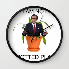 Not A Potted Plant Wall Clock
