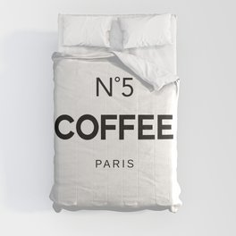 Number 5 Coffee In Paris, Eau De Vie, Water Of Life Quote, Cafe Label Quotes, Large Printable Photo Comforters