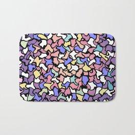 Wobbly Pastel Tone Tiles Bath Mat