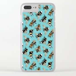 Bees and More Bees Clear iPhone Case