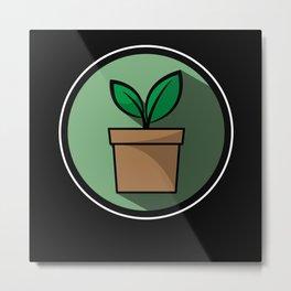 Gardener Gardening gift Flower For Earth Day Metal Print