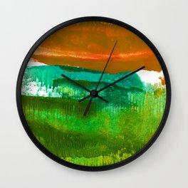 Encaustic Abstract No.27M by Kathy Morton Stanion Wall Clock