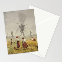 1920 -The march of the Iron Scarecrows Stationery Cards