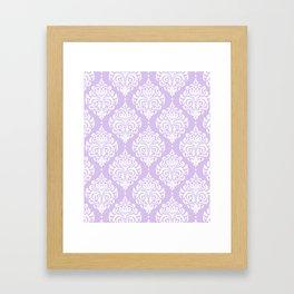 Purple Damask Framed Art Print
