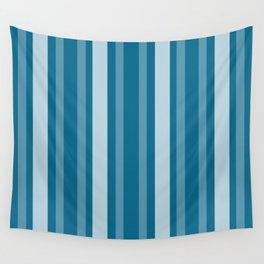 Dark Cerulean Victorian Lady Stripe Wall Tapestry