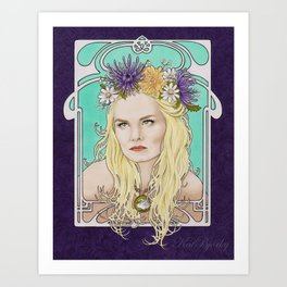 Art Nouveau Emma Swan Art Print