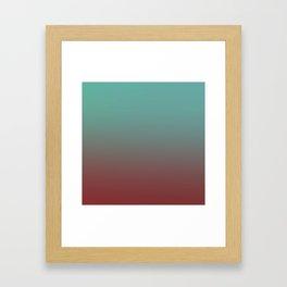 CHEMICAL COINCIDENCE - Minimal Plain Soft Mood Color Blend Prints Framed Art Print