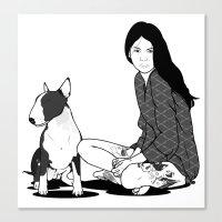 elmo Canvas Prints featuring ELMO & Tara by Michel Toral