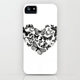 BUTTERFLY LOVE MONO iPhone Case