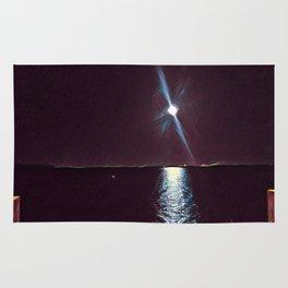 Lake Moonlight Night Rug
