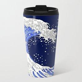 Great Blue Wave Metal Travel Mug