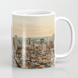 Vintage San Francisco Cityscape (Color) Coffee Mug