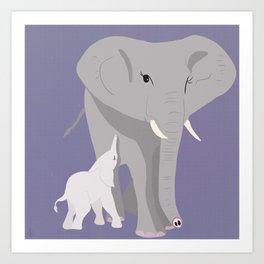 We, the Mamals - Elephant Art Print