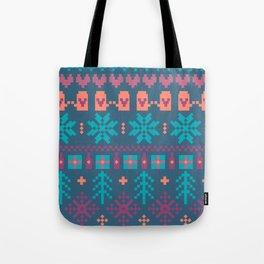 Fair Isle Christmas Tote Bag