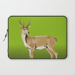 Deer with green Background Laptop Sleeve
