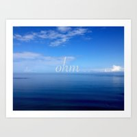 ohm Art Prints featuring Om  by Nadia Bonello - Trū Artwear