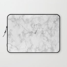 Marble pattern on white background Laptop Sleeve