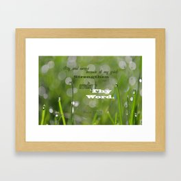 Psalm 119 Tears Framed Art Print