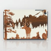 woodland iPad Cases featuring woodland by jefdesigns