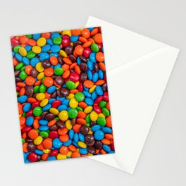 Colorful Candy-Coated Chocolate Pattern Stationery Cards