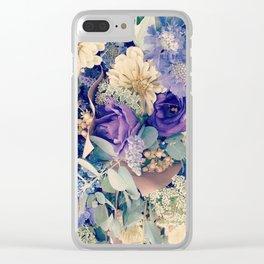 Blue Bouquet Clear iPhone Case