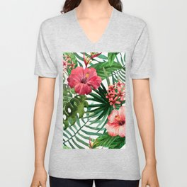 FLOWERS WATERCOLOR 8 Unisex V-Neck