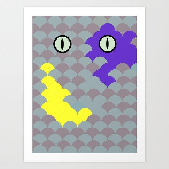 Chesire Scales - Cat Eye - Wonderland Art Print