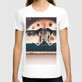 Industrial Landscape On The Face Of A Typewriter T-shirt