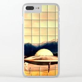 Alien Craft Clear iPhone Case