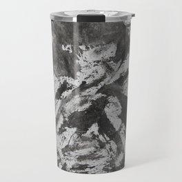 Black Ink on White Background Travel Mug
