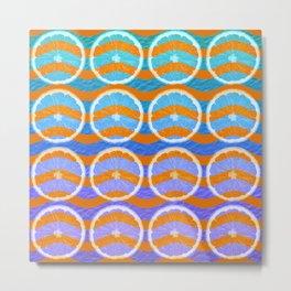 blue citrus Metal Print