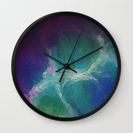 Northern Lights  - Whispers of the cosmos Wall Clock