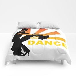 dancing couple silhouette - brazilian zouk Comforters
