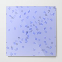 Light blue puzzle Metal Print