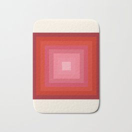 Buggin' Out - retro 70s throwback minimal art 1970s style abstract colorful Bath Mat