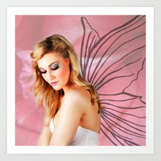 Flower Fairy I Art Print