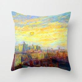 Carrol Brown Studio Window Throw Pillow