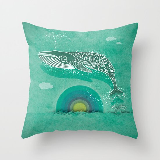 Whale Future Throw Pillow