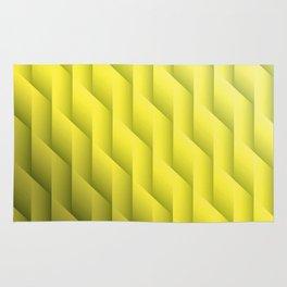 Gradient Yellow Diamonds Geometric Shapes Rug