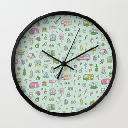 Happy camper Wall Clock