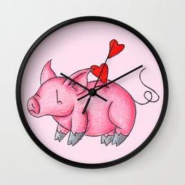 Slot for Hearts Wall Clock