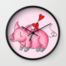 Slot for Hearts Wall Clock