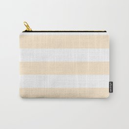 Blanched almond - solid color - white stripes pattern Carry-All Pouch