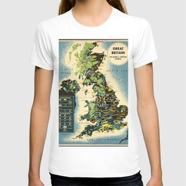 Great Britain 01 - Vintage Poster T-shirt